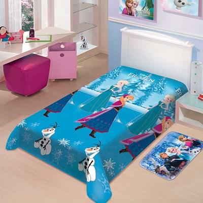 Manta Jolitex Soft Solteiro 1,50 x 2,00m  Frozen Neve