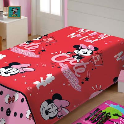Manta Jolitex Soft Solteiro 1,50 x 2,00m Minnie Mouse II