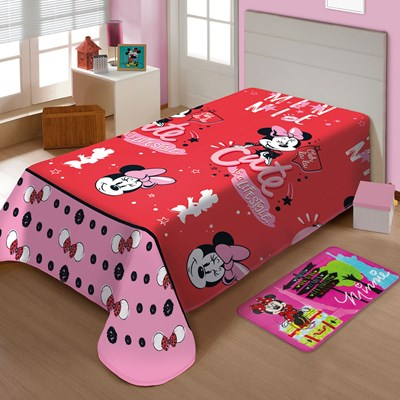 Manta Jolitex Soft Solteiro 1,50 x 2,00m Minnie Mouse II