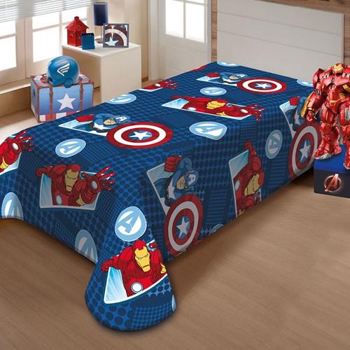 Manta Jolitex Soft Solteiro 1,50 x 2,20m  Avengers
