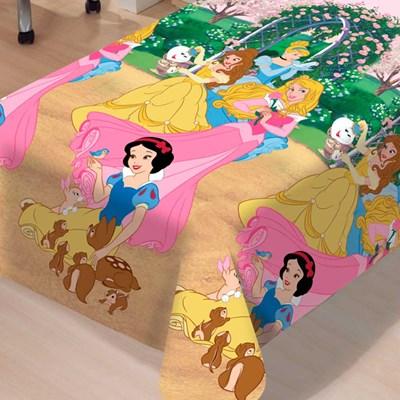 Manta  Princessas Jardim Soft Jolitex 1,50 x 2,20m