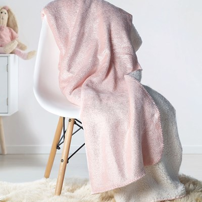 Manta Solteiro Fleece Sherpa Dupla Face Kids Glam
