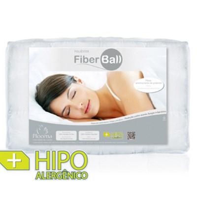 Pillow Top Fiber Ball Casal Plooma Fibra