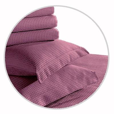 Porta Travesseiro Piquet 100% Algodão Teka Liso