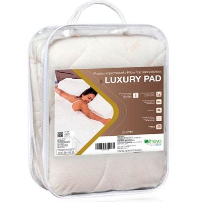 Protetor de Colchão e Pillow Top Solteiro King Luxury Pad