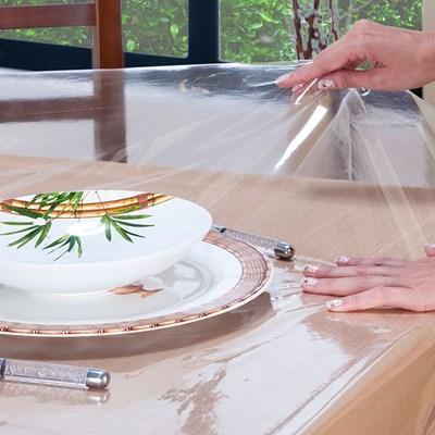 Protetor de Mesa Quadrada Transparente 1,40m Salehtex Para Slime