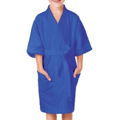 Roupão Felpudo Quimono Confetti Azul Lepper