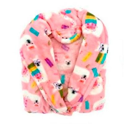 "Roupão Microfibra Infantil Fleece Camesa ""P"""