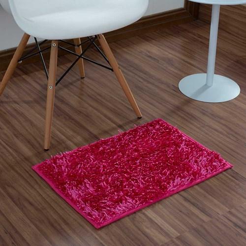 Tapete Multiuso  Microfibra Shaggy 40 X 60cm Pink.