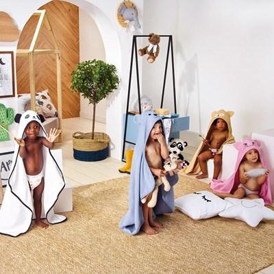 Toalha Banho com Capuz Bordado Infantil Teka kids