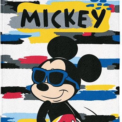 Toalha de Banho e Praia Aveludada Mickey Disney Lepper