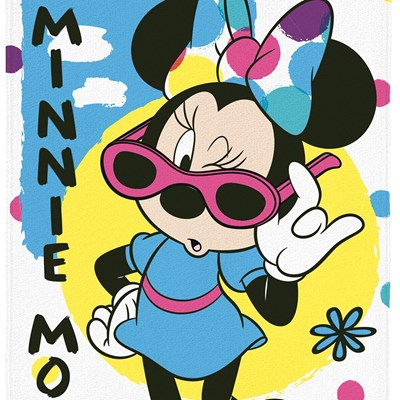 Toalha de Banho e Praia Aveludada Minnie Disney Lepper