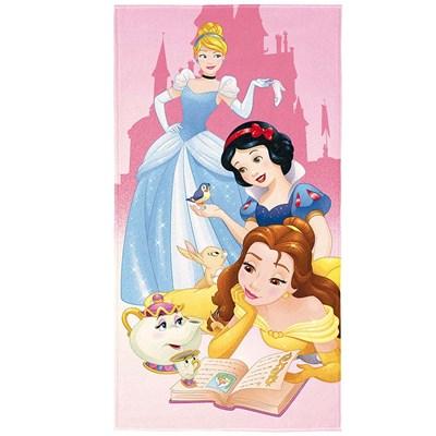 Toalha de Banho e Praia Aveludada Princesas Disney Lepper
