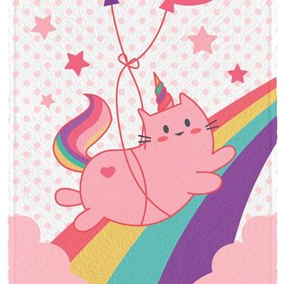 Toalha de Banho Felpuda Fantasy Cat  Estampada Lepper