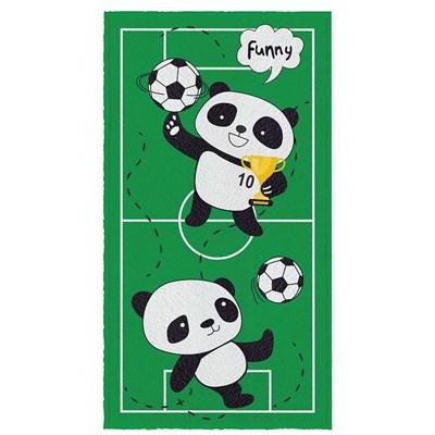 Toalha de Banho Felpuda Panda Futebol Estampada Lepper