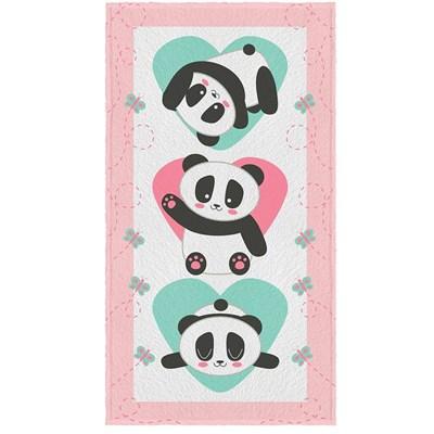 Toalha de Banho Felpuda Pandas Estampada Lepper