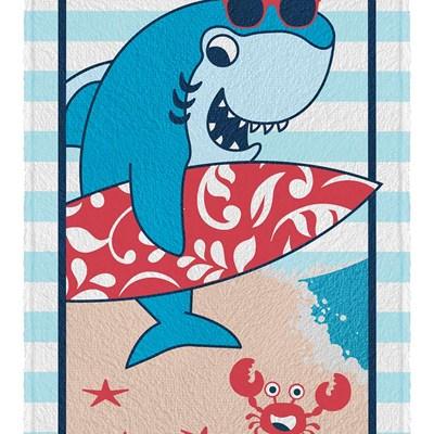 Toalha de Banho Felpuda Tubarão Estampada Lepper