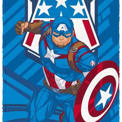 Toalha de Banho Infantil Felpuda Avengers Lepper 02