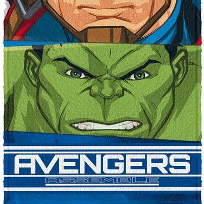 Toalha de Banho Infantil Felpuda Avengers Lepper 04