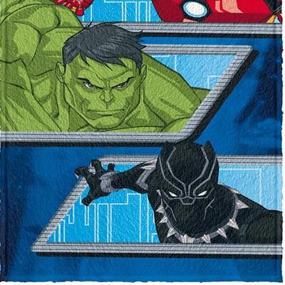 Toalha de Banho Infantil Felpuda Avengers Lepper 05