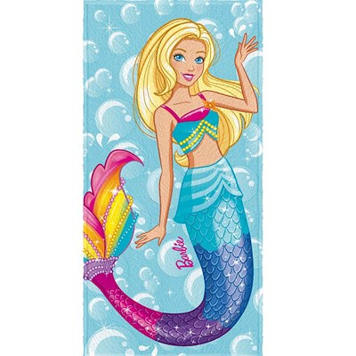 Toalha de Banho Infantil Felpuda Barbie Reino Lepper 01