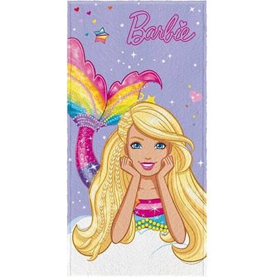 Toalha de Banho Infantil Felpuda Barbie Reino Lepper 02