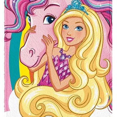 Toalha de Banho Infantil Felpuda Barbie Reino Lepper 03