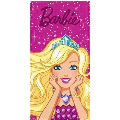 Toalha de Banho Infantil Felpuda Barbie Reino Lepper 04
