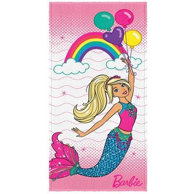 Toalha de Banho Infantil Felpuda Barbie Reinos II Lepper