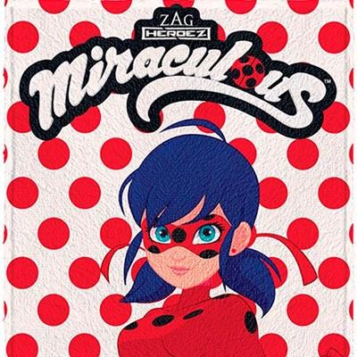 Toalha de Banho Infantil Felpuda Miraculos Ladybug Lepper 01
