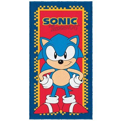Toalha de Banho Infantil Felpuda Sonic Lepper