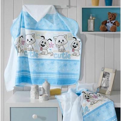 Toalha de Banho Para Bebês com Capuz e Fralda Dohler