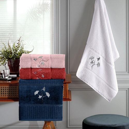 Toalha de Banho Realce 100% Algodão Leque Bouton