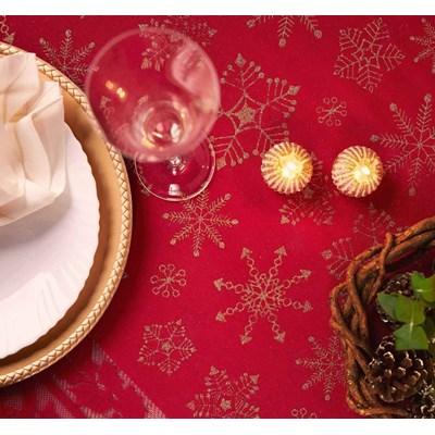 Toalha de Mesa em Renda Natal Retangular 1,55 x 2,50 Lepper