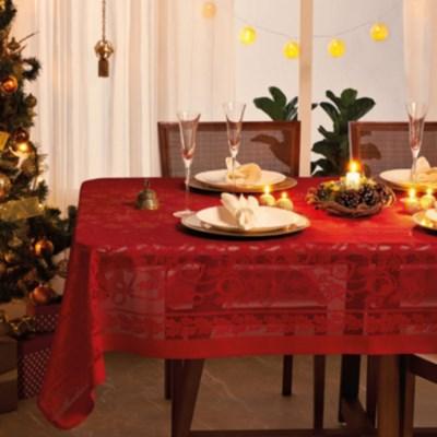 Toalha de Mesa em Renda Natal Retangular 1,55 x 3,00 Lepper