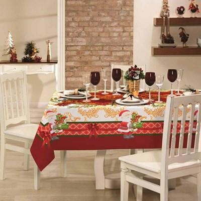 Toalha de Mesa Natal Quadrada 1,40m x 1,40m Lepper