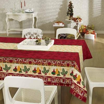 Toalha de Mesa Natal Retangular 1,40m x 2,20m Lepper