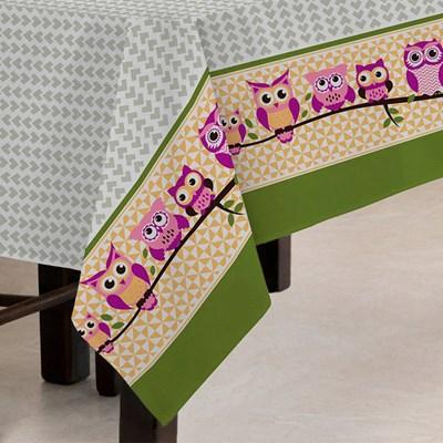 Toalha de Mesa Teka Quadrada 1,40m x 1,40m Basic Coruja