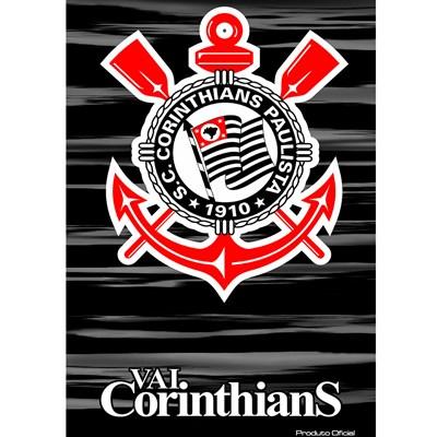Toalha de Praia Aveludada 100% Algodão Corinthians Buettner