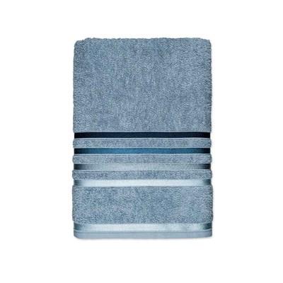 Toalha de Rosto Karsten Lumina Fio Penteado Cor Azul Claro