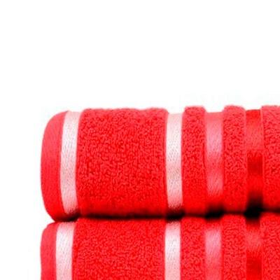 Toalha de Rosto Karsten Lumina Fio Penteado Cor Vermelha