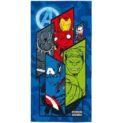 Toalha Praia e Piscina Aveludada Transfer Avengers Lepper