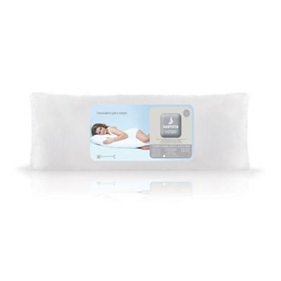 Travesseiro de Corpo 150 Fios 100% Algodão Santista C/ Fronha