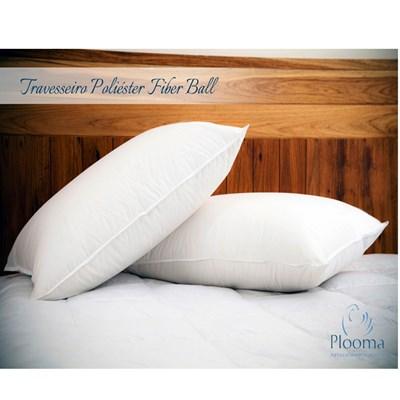 Travesseiro Fiber Ball Percal Plooma