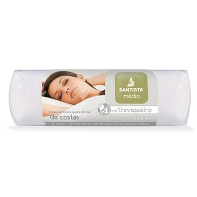 Travesseiro Médio para Quem Dorme de Costas Santista