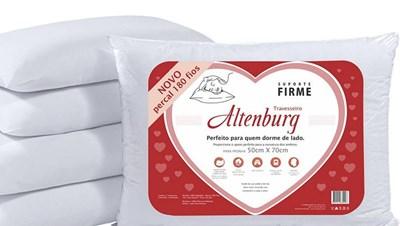 Travesseiro Percal 180 Fios Suporte Firme Altenburg