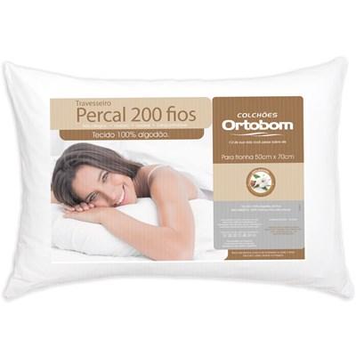 Travesseiro Percal 200 Fios Ortobom