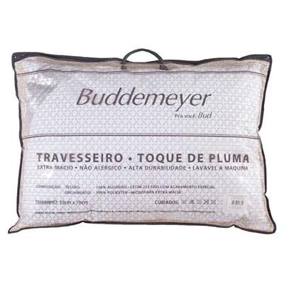 Travesseiro Toque de Pluma 100% Algodão Cetim 233 Fios Buddemeyer
